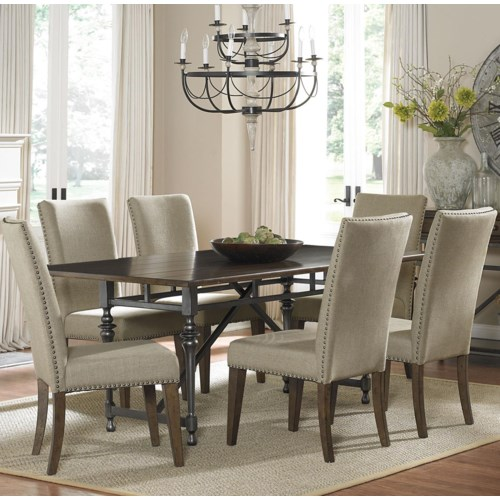 Liberty Furniture Ivy Park 7 Piece Dining Table and Upholstered Chair Set