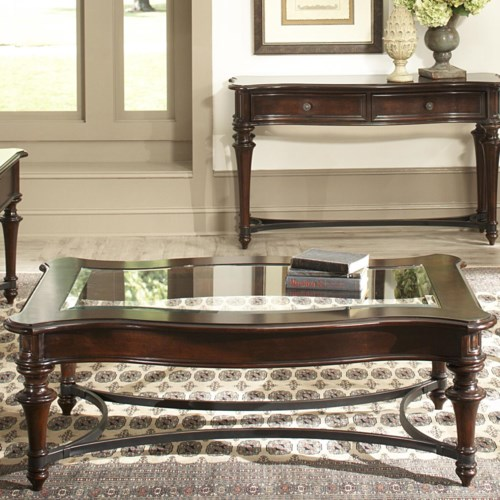 Metal Square Coffee Table With Glass Top And Triangular: Vendor 5349 Kingston Plantation Rectangular Cocktail Table