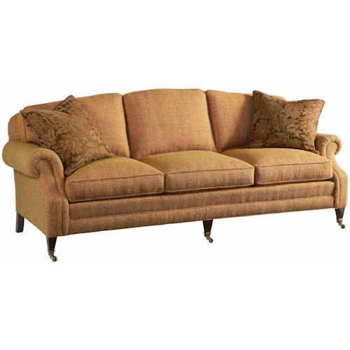 Lillian August Custom Upholstery Sutherland Transitional Sofa With Casters