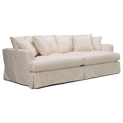 Mccreary Modern 0778 Grand Extra Long Slipcover Sofa With Pleated Skirt And Flared Arms