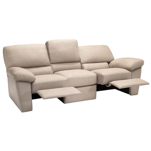 Italsofa I210 Contemporary Leather Reclining Sofa