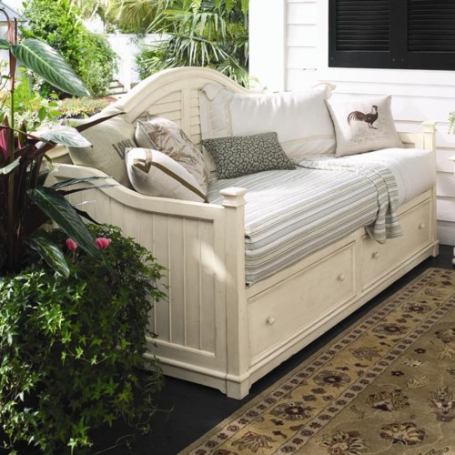 Paula Deen by Universal Paula Deen Home Day Bed with 2 Storage Drawers