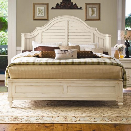Paula Deen by Universal Paula Deen Home California King Steel Magnolia Bed with Panel Headboard and Low Footboard