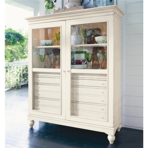 Paula Deen by Universal Paula Deen Home The Bag Lady's Cabinet with 2 Shelves and 8 Drawers