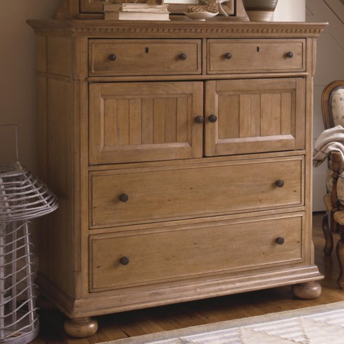 Morris Home Furnishings Pineridge 4-Drawer Dressing Chest with 2 Doors