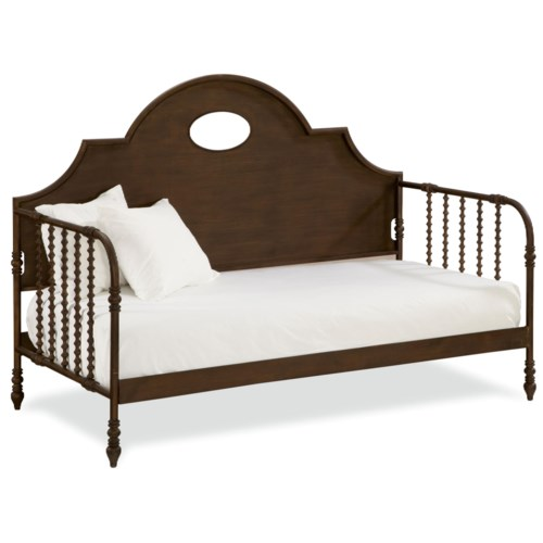 Paula Deen by Universal River House Low Country Day Bed with Metal Frame and Wooden Arch