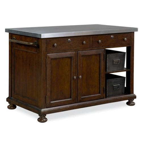 Paula Deen by Universal River House Kitchen Island with Slide Out Table