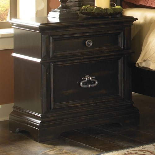 Pulaski Furniture Brookfield Transitionally Styled Bedroom Nightstand with Drawers
