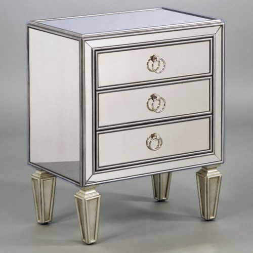 Pulaski Furniture Accents Chairside Chest with Three Drawers