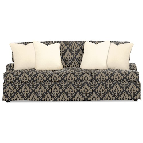 Rachael Ray Home by Craftmaster R9601 Traditional Skirted Sofa