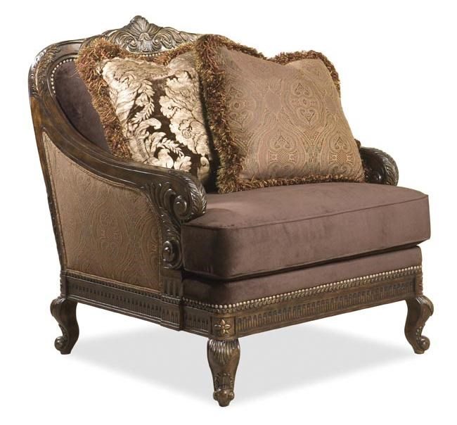 Babette III Traditional Camel Back Chair With Wood Frame By Rachlin Classics
