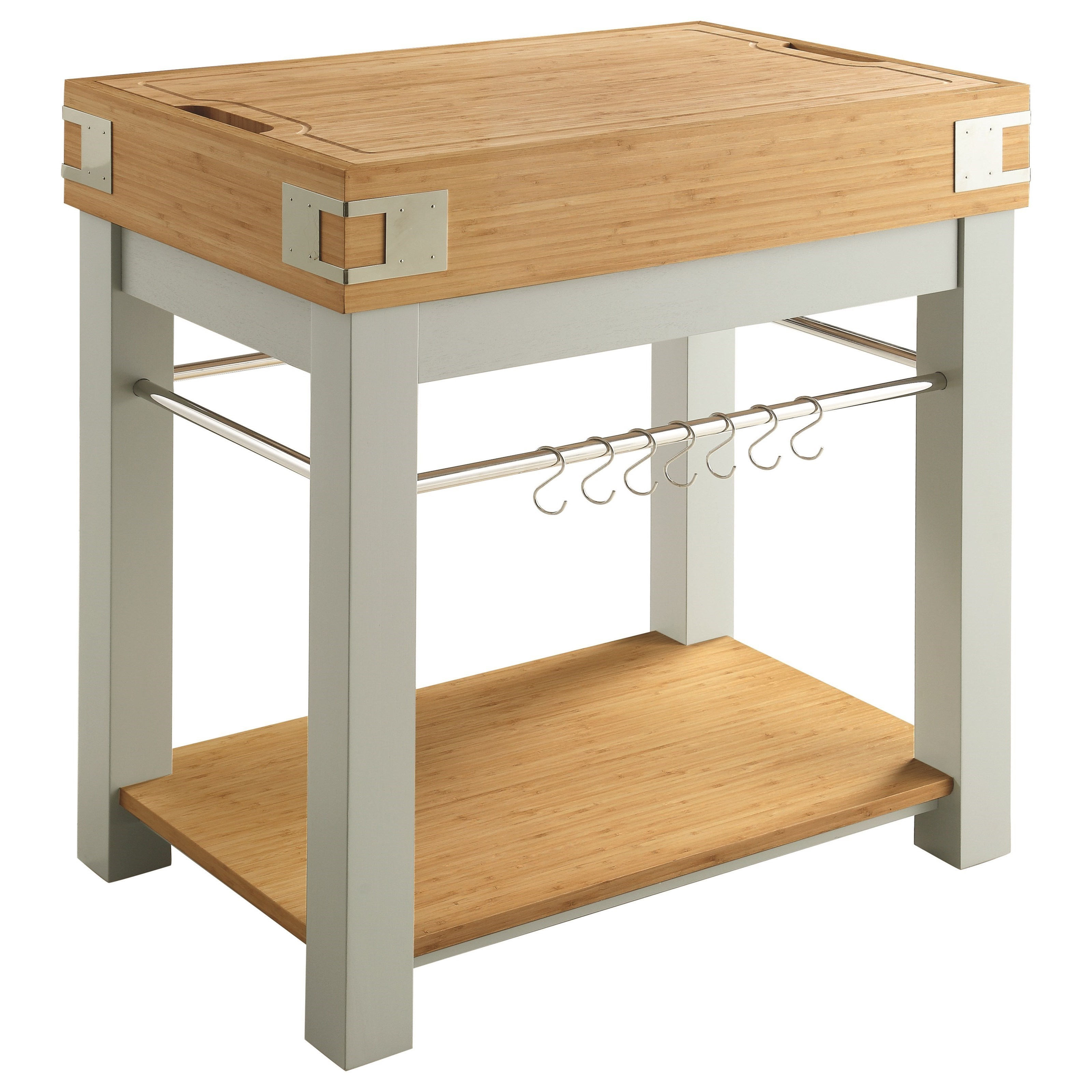 Scott Living 10298 Kitchen Island With Removable Cutting Board   Coaster  Fine Furniture