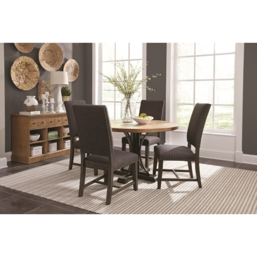 Scott Living Bishop Dining Room Group With Parson Chairs And Round Table