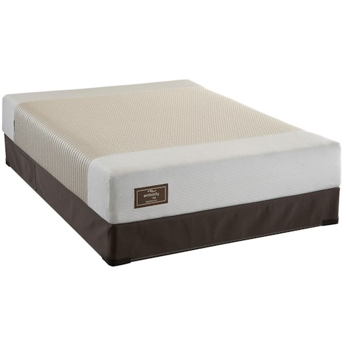 Sealy Embody Shelter Queen Latex Mattress Set