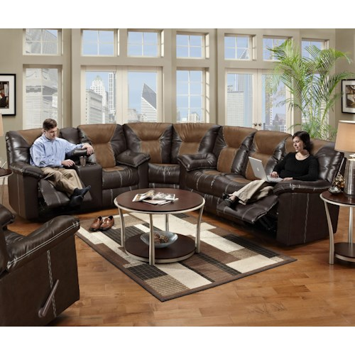 Seminole Furniture 5150 Reclining Sectional Sofa in Leather ...