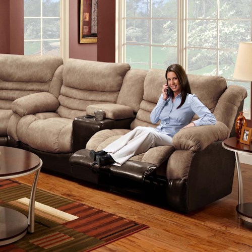 Seminole Furniture 6250 Double Reclining Console Sofa With