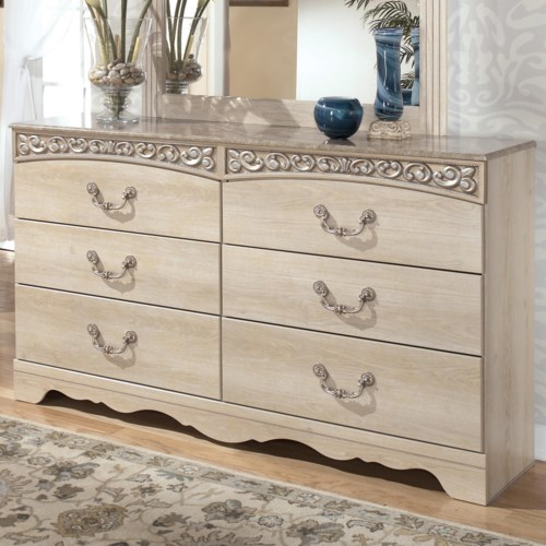 Signature Design by Ashley Catalina B196 Six-Drawer Double Dresser