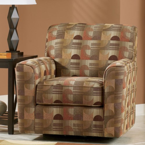 Signature Design by Ashley Del Rio DuraBlend - Sedona Upholstered Swivel Accent Chair