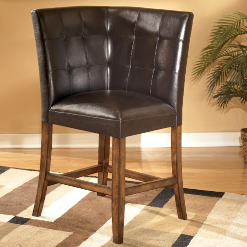 Signature Design by Ashley Lacey Upholstered Corner Bar Stool