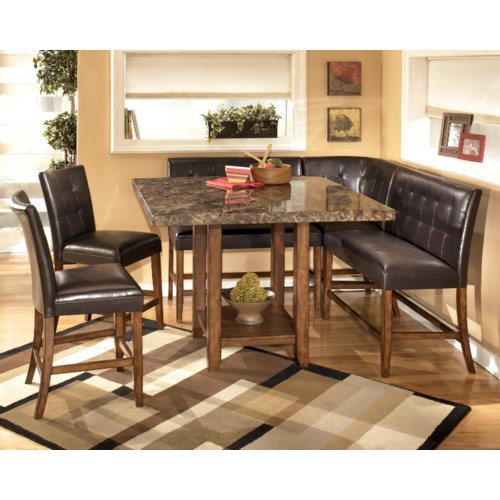 Signature Design by Ashley Furniture Lacey 6-Piece Corner Dining Pub Set