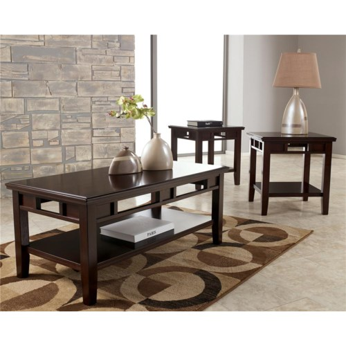 Signature Design by Ashley Logan Contemporary 3-in-1 Occasional Table Set