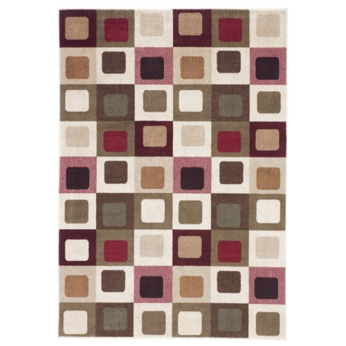 Signature Design by Ashley Contemporary Area Rugs Sloane - Red Area Rug