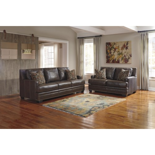 Signature Design By Ashley Corvan Stationary Living Room Group Royal Furniture Upholstery