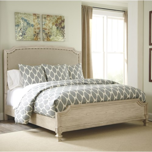 Signature Design By Ashley Demarlos Queen Upholstered