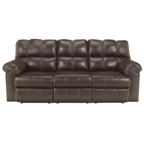 Signature Design by Ashley Kennard - Chocolate Reclining Sofa with Infinite Power Reclining Positions