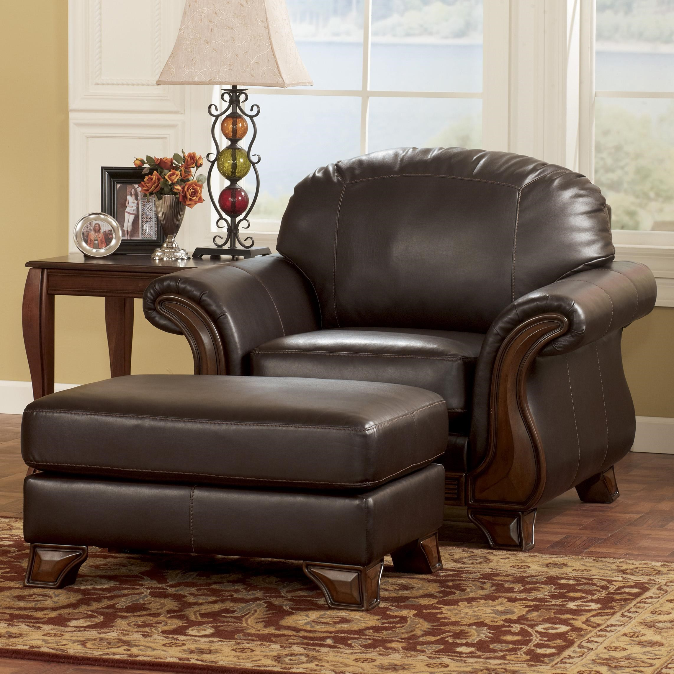 Brown Faux Leather Ottoman Brown Faux Leather Chair