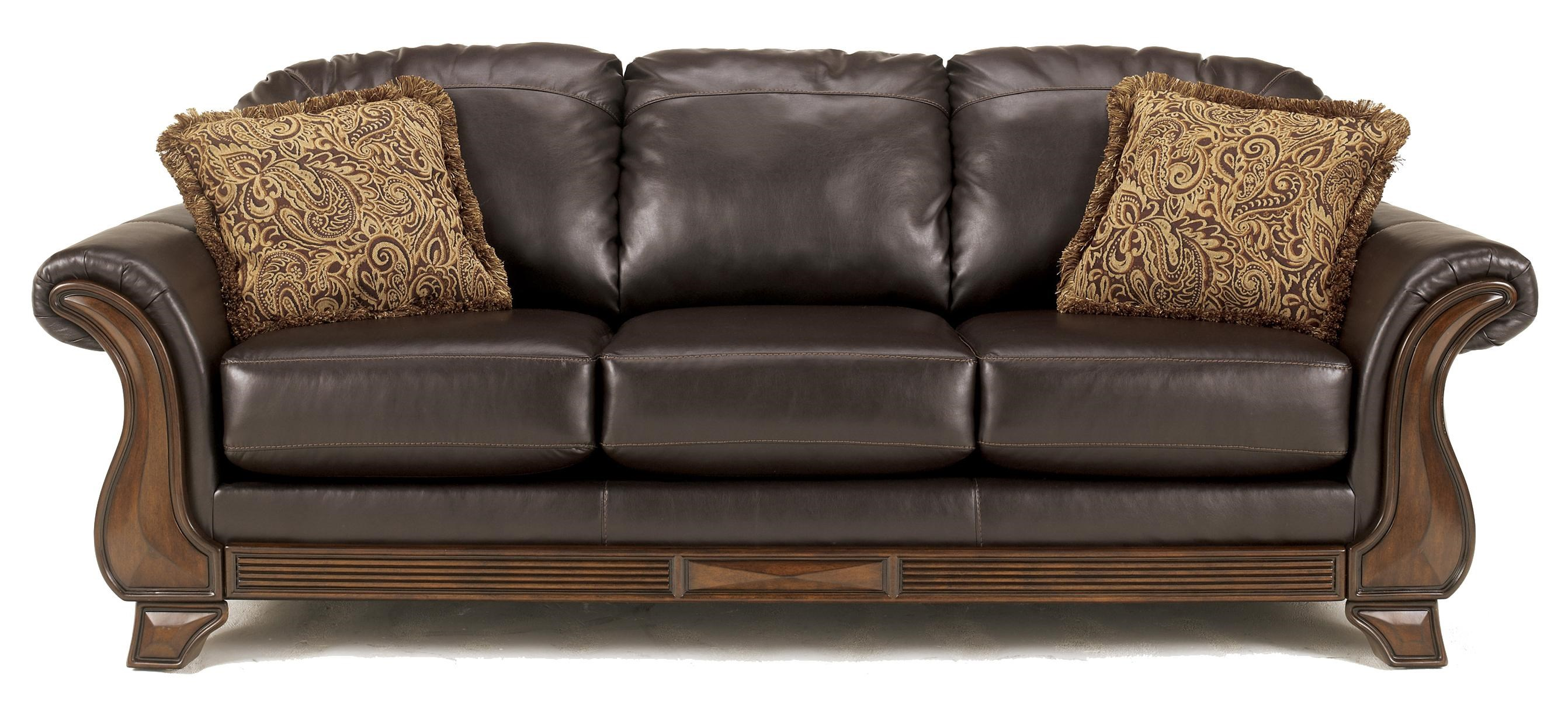 Brown Faux Leather Sofa Brown Faux Leather Sofa