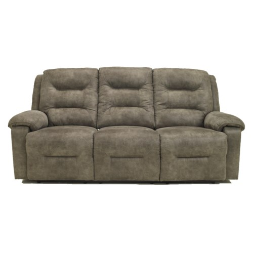 Signature design by ashley rotation smoke contemporary for Ashley reclining chaise