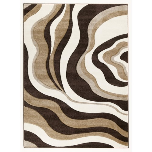 Signature Design by Ashley Furniture Contemporary Area Rugs Rivoletto - Brown Medium Area Rug