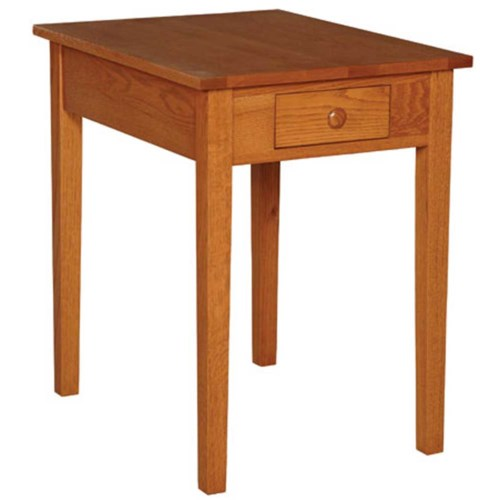 Simply Amish Shaker Amish Shaker Drawer Lamp Table Becker Furniture World End Table Twin