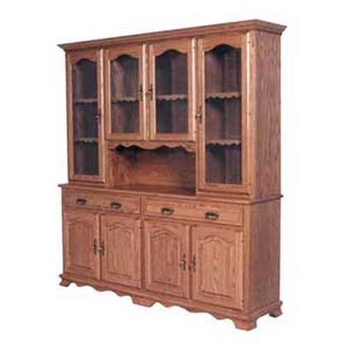 Simply Amish Classic Classic 4 Door Hoosier China Hutch Becker Furniture World China Cabinet