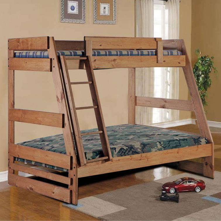 Simply Bunk Beds 709 Twin Over Full Bunk Bed With Ladder