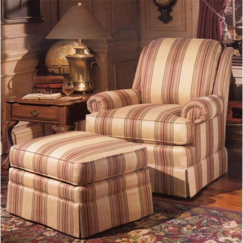 Smith Brothers 971 Upholstered Chair & Ottoman