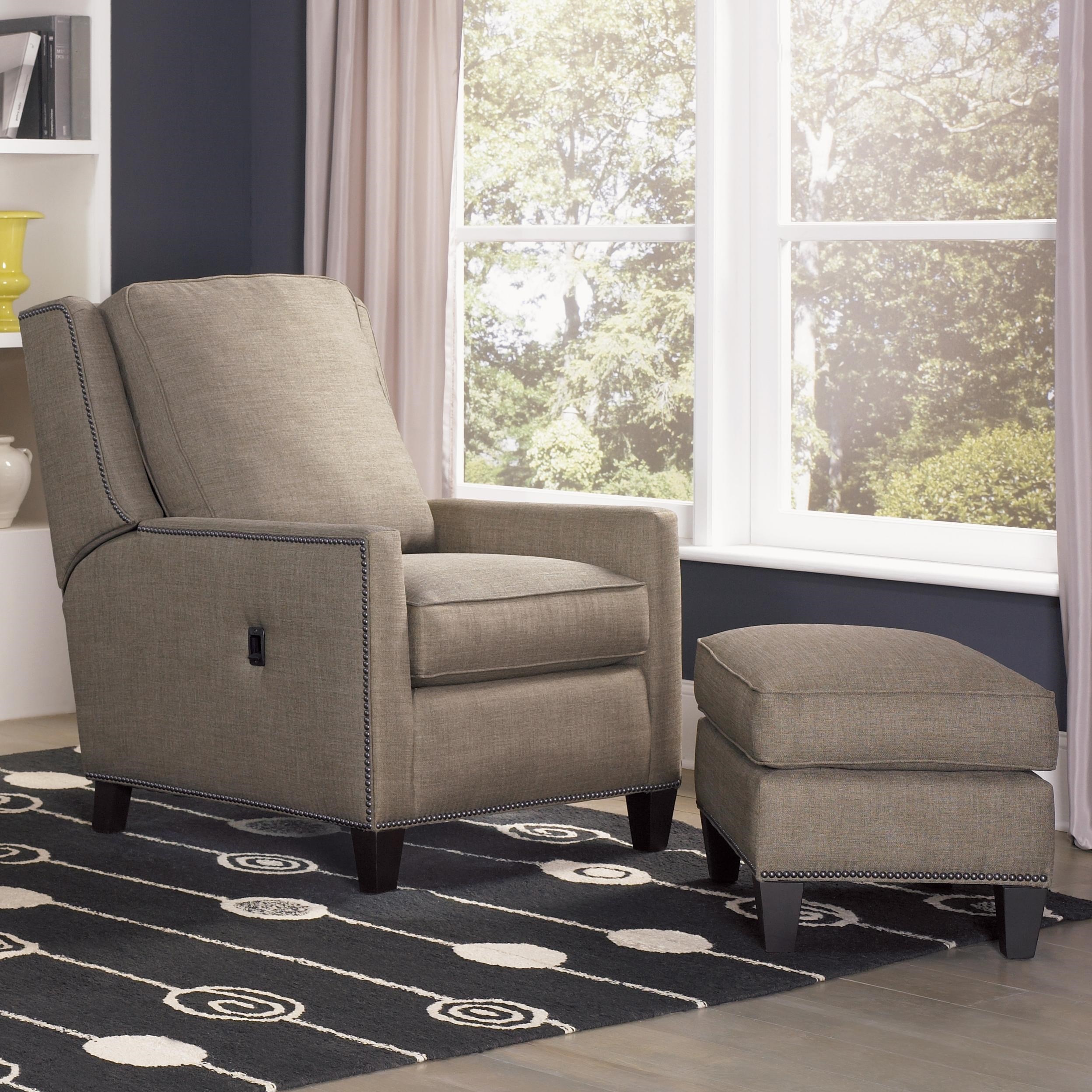Delicieux Smith Brothers Recliners Transitional Tilt Back Chair And Ottoman  Combination