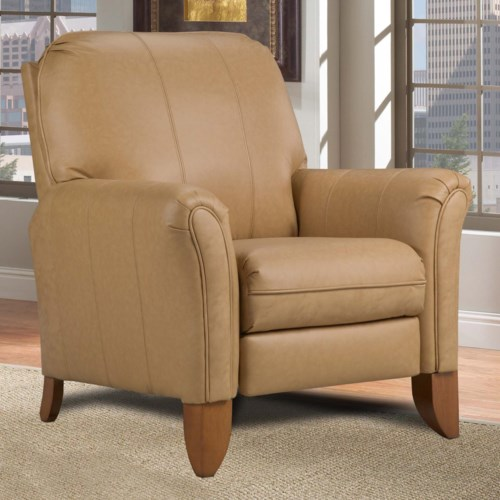 Southern Motion Hi-Leg High Leg Recliner with Wood Legs
