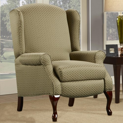Southern Motion Hi-Leg High-Legs Recliner with Cabriole Legs
