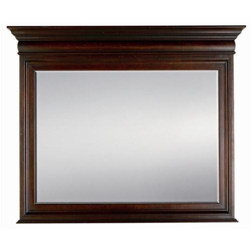Stanley Furniture City Club Barrister Landscape Mirror with Bevel Cut