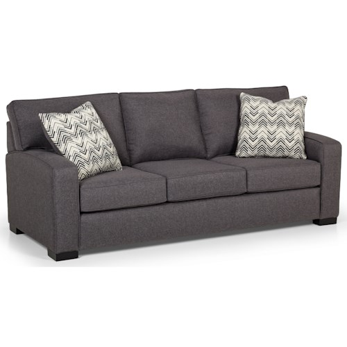 Stanton 375 Contemporary Sofa with Arching Track Arms