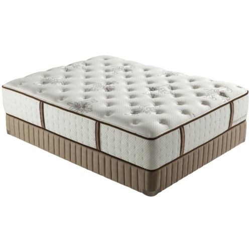Stearns & Foster Alecia Queen Luxury Firm Mattress and Low Profile Box Spring