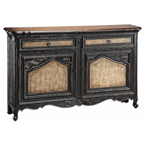 Stein World Cabinets Narrow Sideboard w/ 2 Doors and Drawers