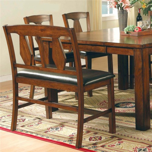 Steve Silver Lakewood  Transitional Splat Backrest Dining Bench