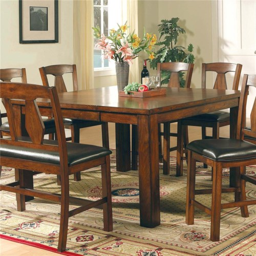 Steve Silver Lakewood  Transitional Brown Oak Counter Height Table