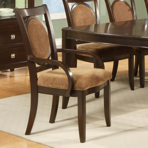 Steve Silver Montblanc Dining Arm Chair with Oval Back