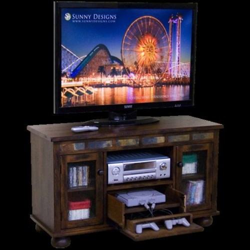 Sunny Designs Oxford TV Console with Game Drawer