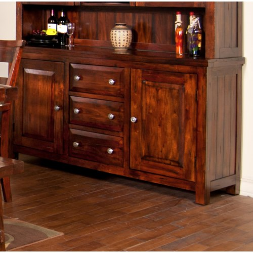 Sunny Designs Vineyard Mahogany Buffet