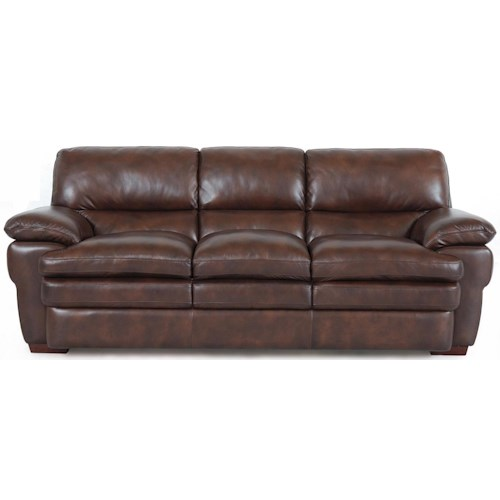 7454 3 Cushion Leather Sofa By Superb Creations